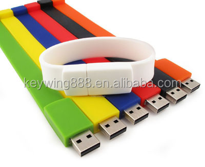 2014 Brand Promotion silicone wristband usb disk