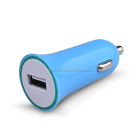 Mini DC 5V1A Single USB Port Input 12V 24V Car Battery Charger for iPhone Samsung Galaxy HTC Huawei and More Smartphones