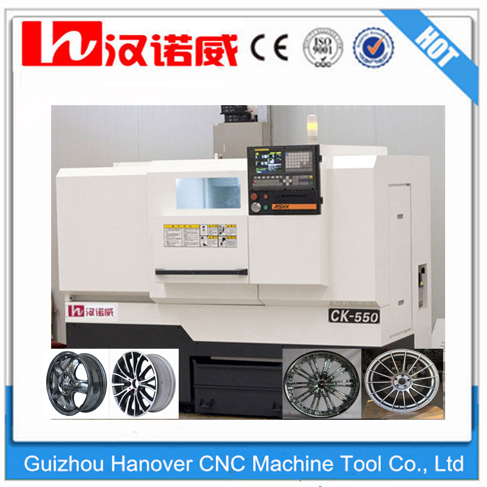 CK550 CNC Wheel Lathe WRC26 Diamond Cut Wheel Machines