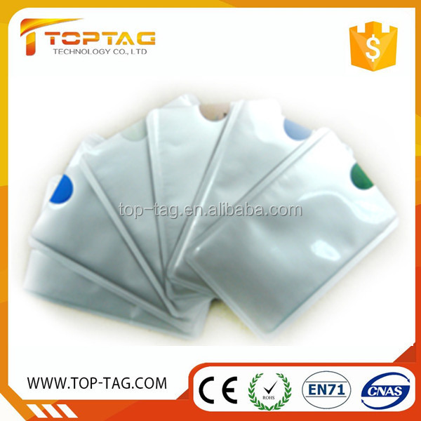 Factory Price Rfid Blocking Card Sleeve / Credit Card Protector / Driving Licenses Holder