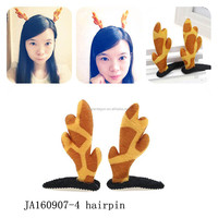 Fancy items for kids giraffe hairpin made in china