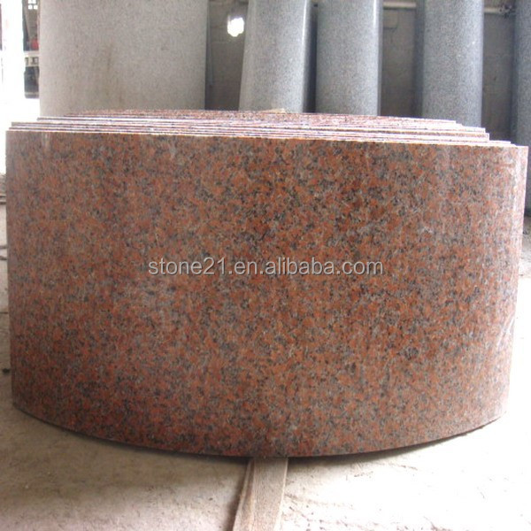 Red Graite column cover , Brey granite stone column and base