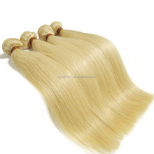 Brazilian virgin weave bundles golden blonde silky straight human hair extension new premium