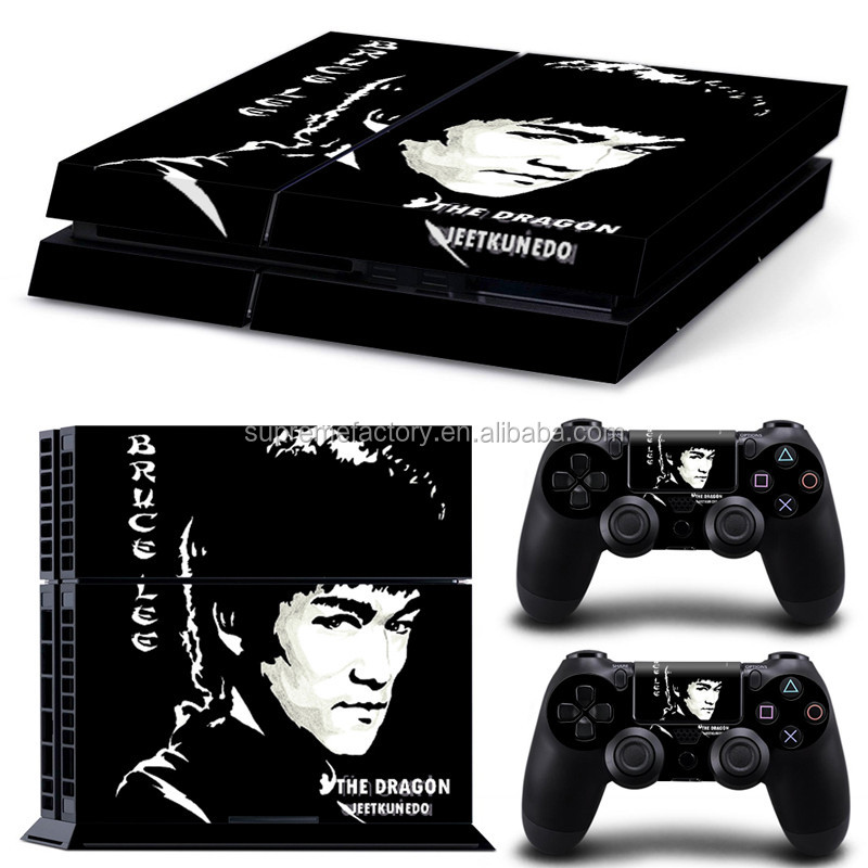 Bruce Lee Design Vinyl Decals Skin Sticker for PS4 / for Playstation 4 Controllers Console