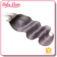 new arrival gray lace closure best quality cheap price 100% virgin human hair