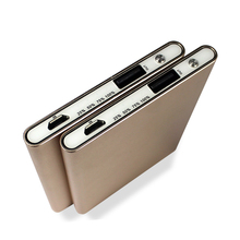 2016 shenzhen consumer electronics ultra slim Aluminum portable power bank for iphones for mobile phones free samples wholesale
