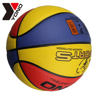 Lastest promotional custom colorful PU new design basketball ball FOR HOT SALE