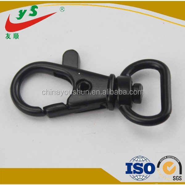 Small Size Top Quality Lobster Claw D Ring Black Snap Hook