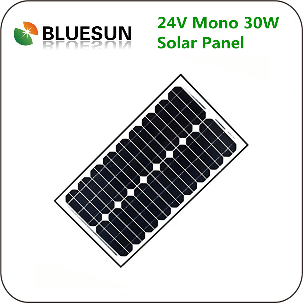 China Top1 Manufacturer 24V 30Watts Mono Solar Panel 24Volt 30W Battery Charger
