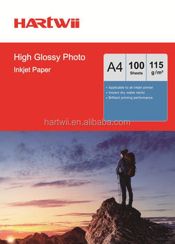 115g a4 glossy photo paper for inkjet printer