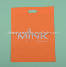 reusable custom orange pp non woven bag with print logo ISO passed