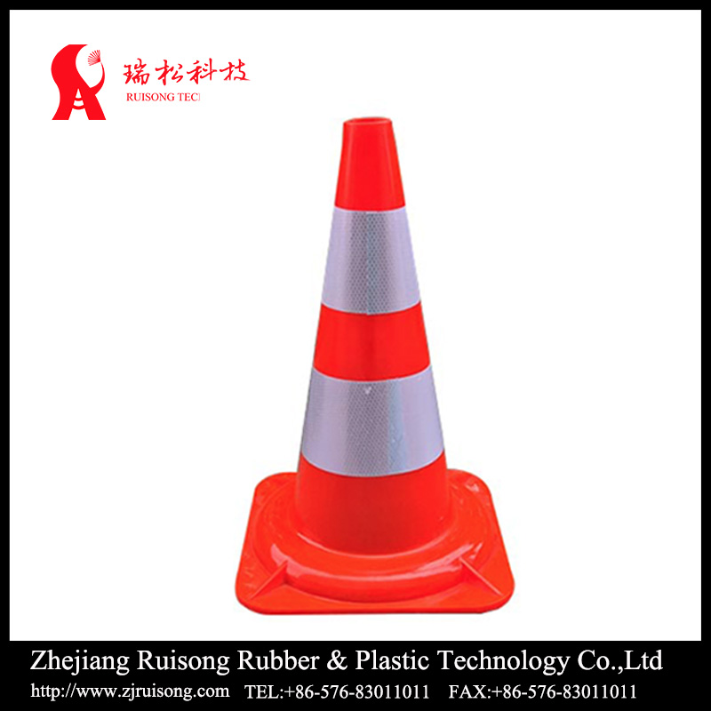 Parking traffic safety 47cm PVC cone,50cm PVC traffic cone