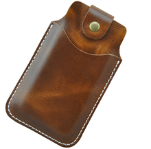 handmade imported genuine leather mobile phone case with card holder