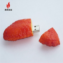 custom 3D chicken wing shape PVC usb memory Wholesale Business Promotional Gifts PVC Rubber Custom shape usb flash drive 1gb 2gb