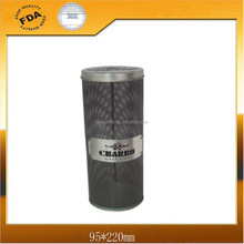 Round Wine Tin Packaging Can with Trademark Sign on net Body
