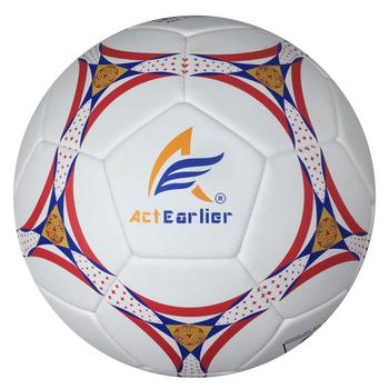 ActEarlier durable soft touch football training equipment official size 5 microfiber soccer ball