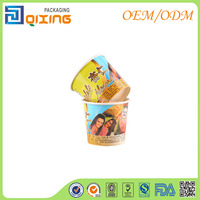 225ml Gelato Ice cream paper cup with PET lid