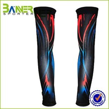 Elastic compression cycling arm sleeve cool design printed waterproof slimming