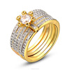 Sterling Silver 925 Gold Wedding Ring