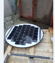 round solar panel used for solar street light
