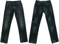 Adults men's 100% cotton straight fit low rise jeans man 's old wash jeans wholesale OEM service factory Guangzhou