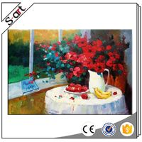 Factory supply original design flower and fruit still life oil paintings on canvas