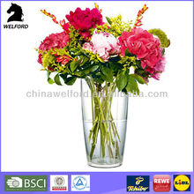 hot selling high quality clear tall plastic vases for centerpieces