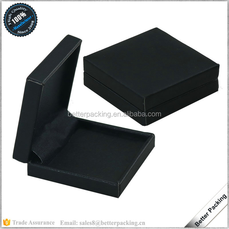 Small Black PU Leather Single Commemorative Coin Gift Box