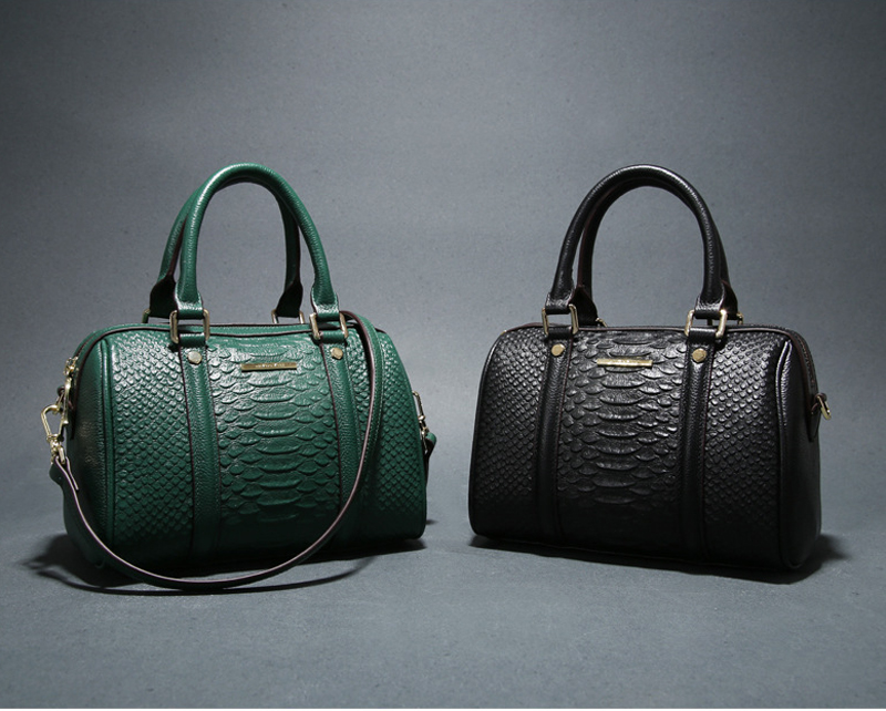 Crocodile embossing textured Large capacity women leather hand bag tote with handle