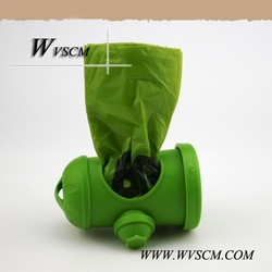 a new design retractable dog leash bag with HDPE material