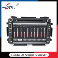 8 inch dual-core gps navigation with 5 Preset EQ for Honda Vezel 2014