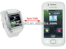 synchronous update sms text messages smart bluetooth phone wrist watch,can dial/answer calls,IOS/Android phone available