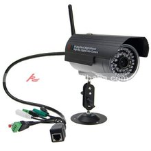 Waterproof Outdoor CMOS Wireless All-in-one Function IP Network Camera With 10-25m IR