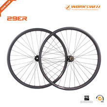 Workswell 29er Carbon Wheelset 35mm Width clincher Tubeless MTB Wheelset