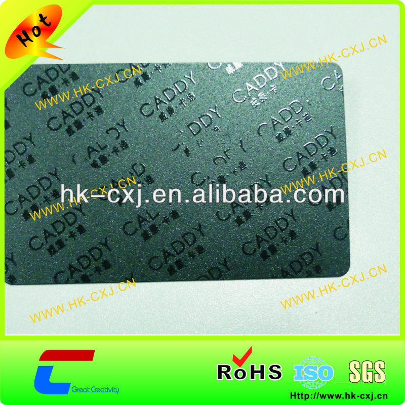 UV vamishing matt material black pvc business card