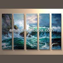 Hot Sell Handmade Ocean Waves Oil Painting