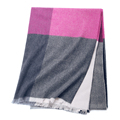 Inner Mongolia manufacturers winter warm shawl SCR0145 pure cashmere thin plaid lady fashion scarf