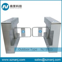 Biometric Access Control electric swing barrier gate manual swing turnstile