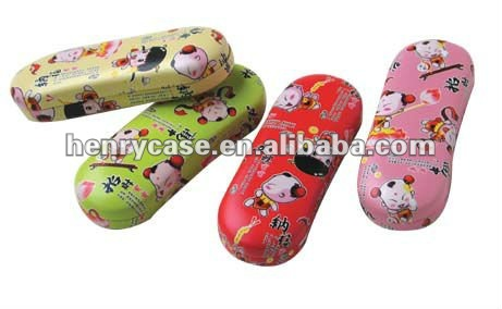 new style cute metal glasses case for kids