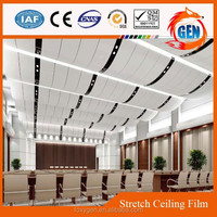 Project sanitary stretch ceiling pvc laminated gypsum panel with 15-year warranty for swimming pools