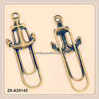 Anchor Hooks Antique Bronze Metal Book Marks