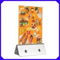 2016 best advertising item menu stand power bank supplier, restaurant table phone charger