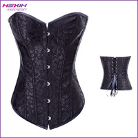 No MOQ Shapewear Hexin Corset Steel Boned Bustier with G-string