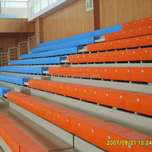 2014 best sales telescopic retractable bleachers with bench seat