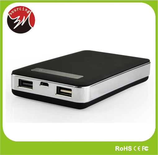 LCD Remaining Power ROHS UL Dual USB Power Charger Power Bank 10000mah with Rubber Coated
