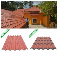Light weight PVC plastic roof tile for residential house