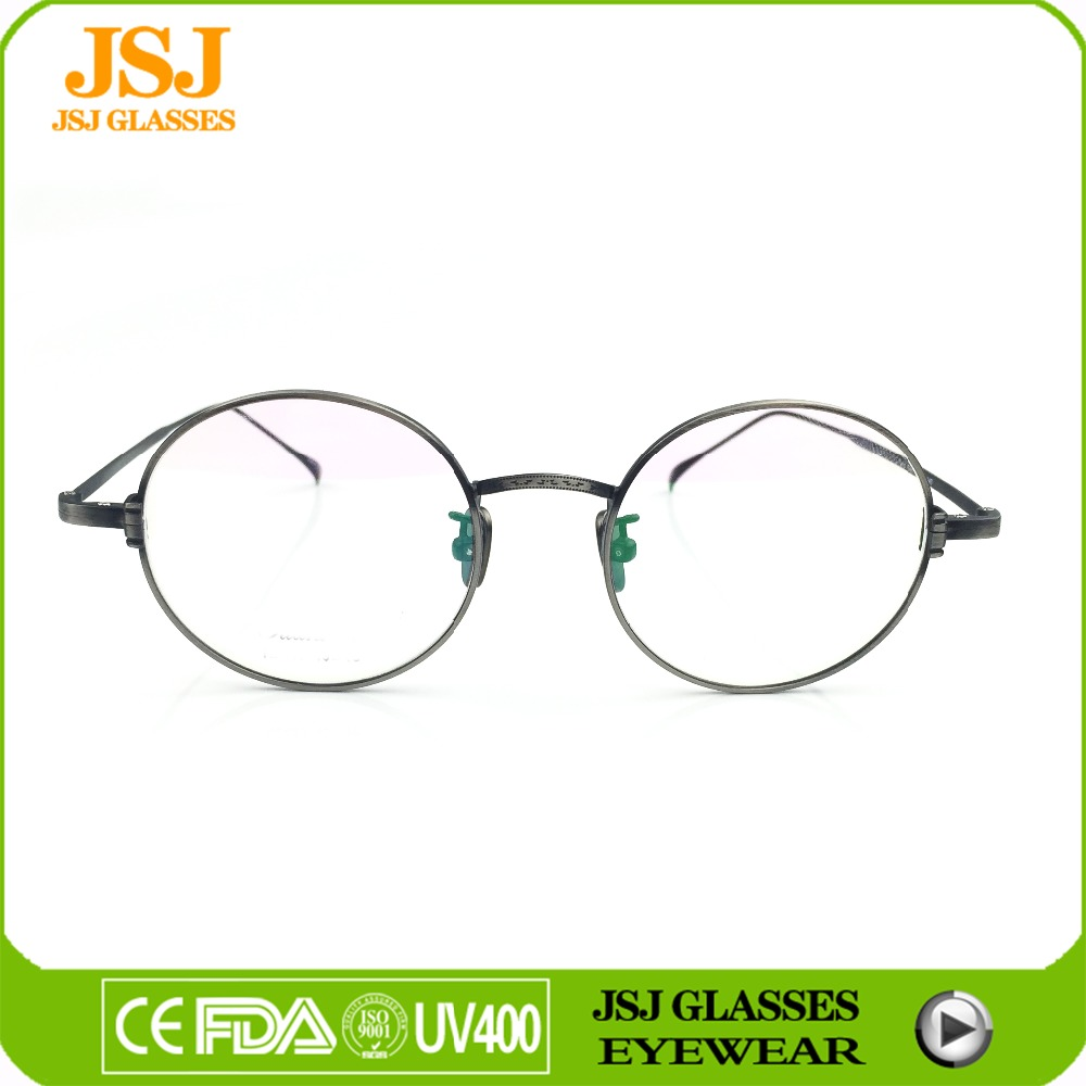 2016 wholesale retro style optical frame silver color titanium spectacle frame Japan design eyewear glasses frame