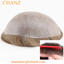 Popular Injection Super Thin Skin Toupee Hair Replacement System