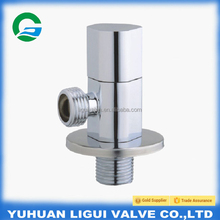 1/2 Ceramic cartridge brass water angle valve with zinc alloy handle/Toilet brass angle valve use for water supply system