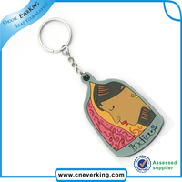 personalized puzzle colorful silicone key chain